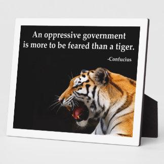 Confucius Oppressive Government Plaque