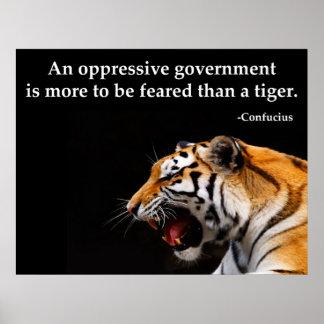 Confucius Oppressive Government Poster