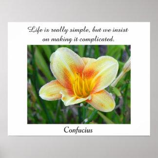 Confucius quote - poster