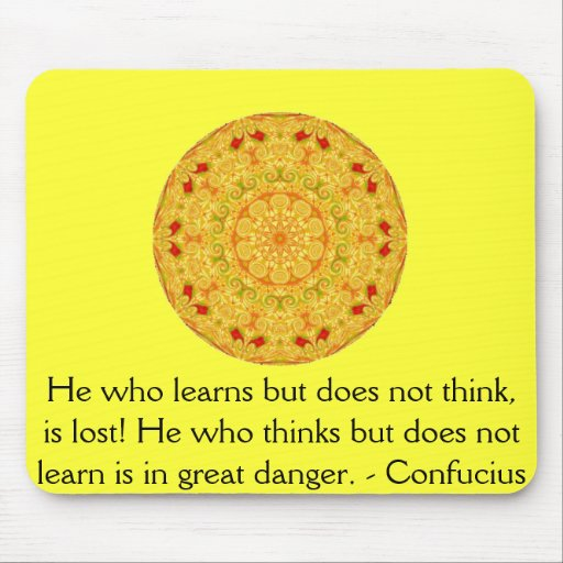 Confucius Quote  -  wearable wisdom Mouse Pad