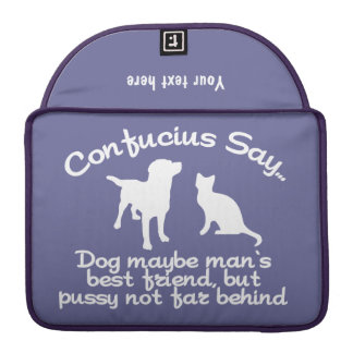 CONFUCIUS SAY … custom Macbook sleeve