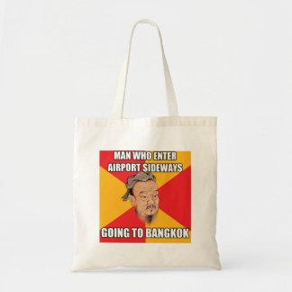 Confucius Say Going to Bangkok Canvas Bag