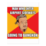 Confucius Say Going to Bangkok Post Cards