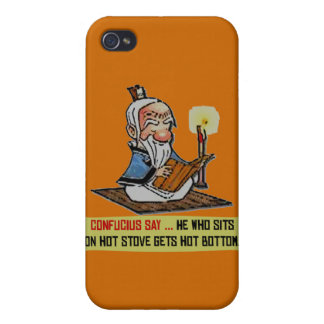 CONFUCIUS SAY ... HOT BOTTOM iPhone 4/4S COVER