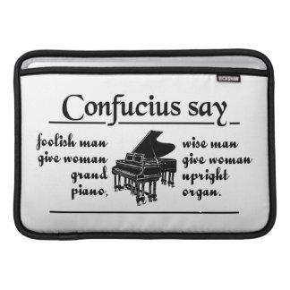 CONFUCIUS SAY … iPad / laptop sleeve