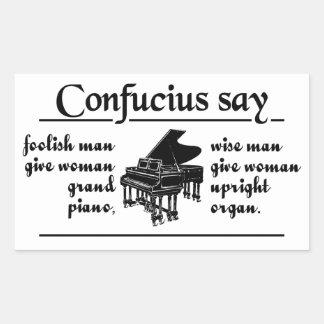 CONFUCIUS SAY … stickers