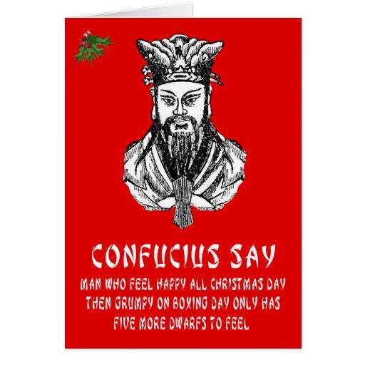 Confucius says Christmas Card