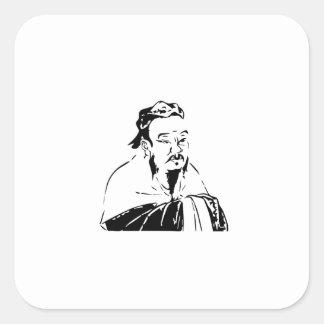 confucius square sticker