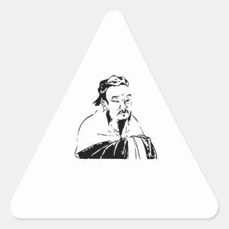confucius triangle sticker
