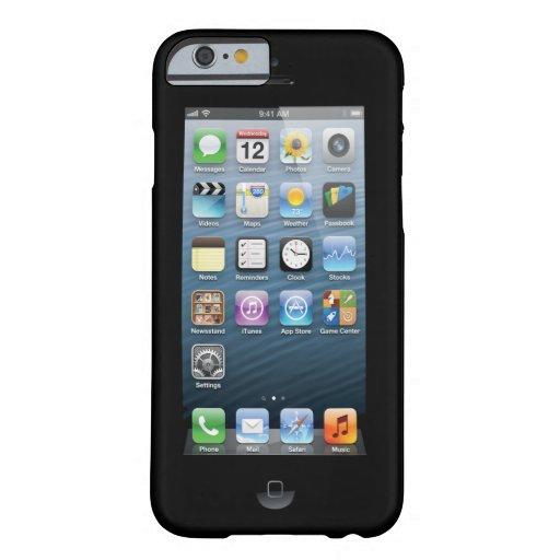 Confunda a la gente con la impresión de pantalla funda de iPhone 6 barely there