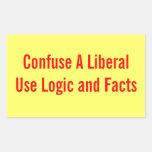 Confunda a un pegatina liberal