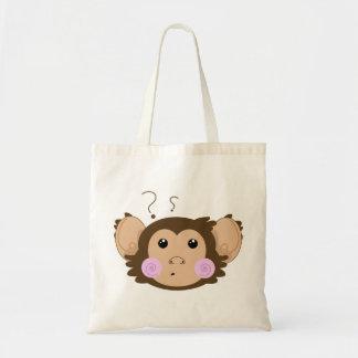 Confunda el mono bolsa tela barata