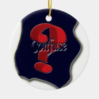 Confuse Ask Symbol the nice symbol emboss Christmas Ornament