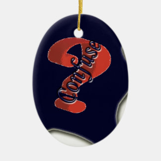 Confuse Ask Symbol the nice symbol Christmas Tree Ornament