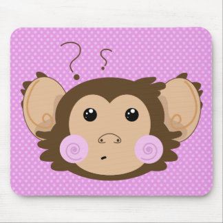 Confuse Monkey Mouse Pad
