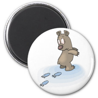 Confused Bear 2 Inch Round Magnet