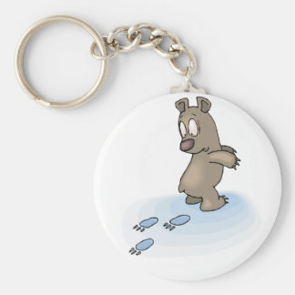 Confused Bear Keychain