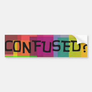 Confused Bumper Sticker
