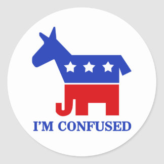 Confused Classic Round Sticker