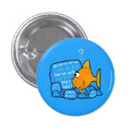 Confused Clownfish 1 Inch Round Button