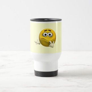 Confused Emoticon 15 Oz Stainless Steel Travel Mug