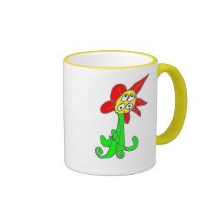 Confused Flower Ringer Coffee Mug