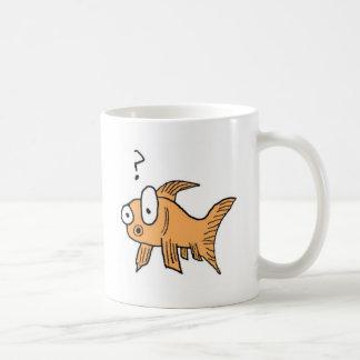 Confused Goldfish Coffee Mug
