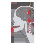 confused heart logicskull Double-Sided standard business cards (Pack of 100)