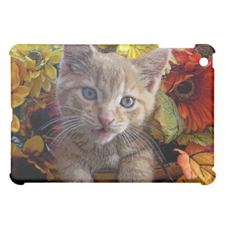 Confused Kitten, Animal Playing in Flowers, Nature iPad Mini Cover