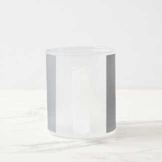 Confused lines geometric design 10 oz frosted glass coffee mug
