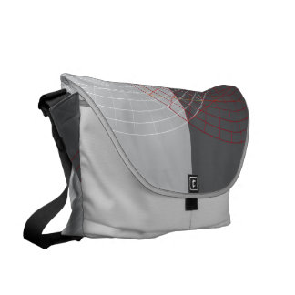 Confused lines geometric design courier bag