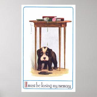Confused Little Dog Poster