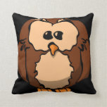 confused owl, Fun Pillow