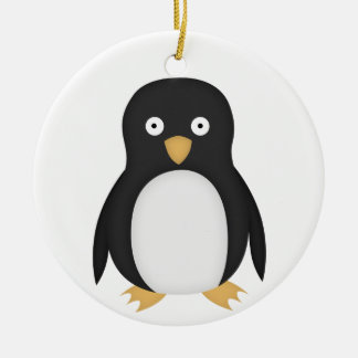 Confused penguin ornaments
