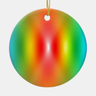 Confused rainbow colours abstract ceramic ornament