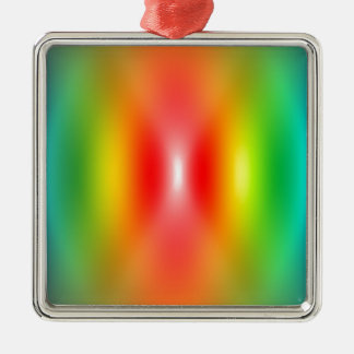 Confused rainbow colours abstract metal ornament