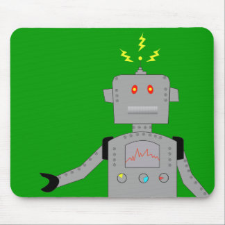 confused robot mouse pad