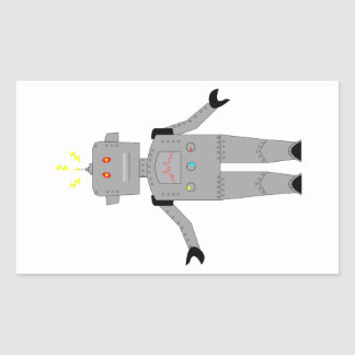 confused robot sticker