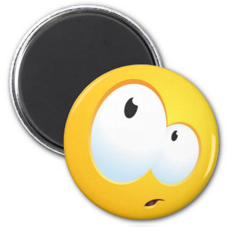 Confused Smile 2 Inch Round Magnet