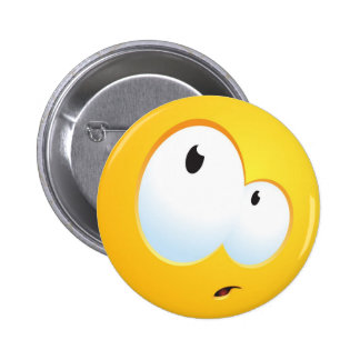 Confused Smile Pinback Buttons