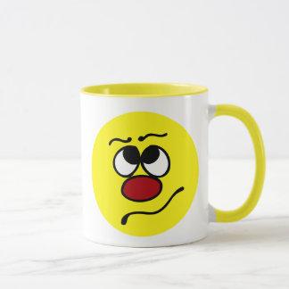 Confused Smiley Face Grumpey Mug