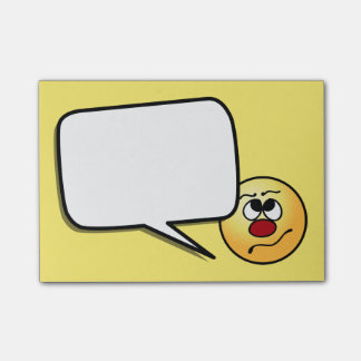 Confused Smiley Face Grumpey Post-it Notes