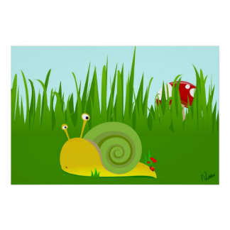 Confused Snail Poster