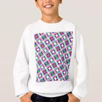 Confused Steps Repetitive Design Sweatshirt