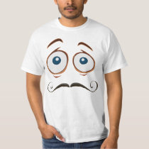 Confused Thin Mustache Jalapeno T-Shirt