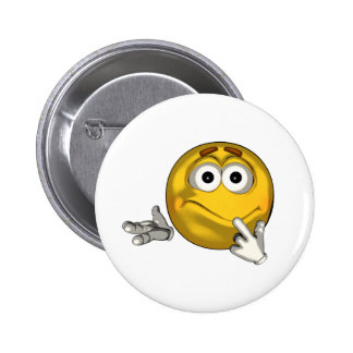 Confused - toon pinback button