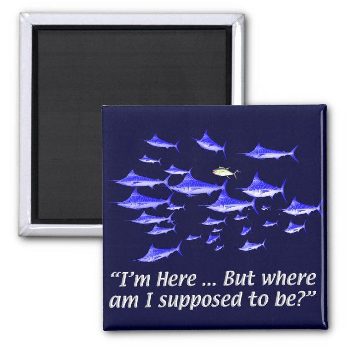 Confused tuna   Senior Citizens Fridge Magnet