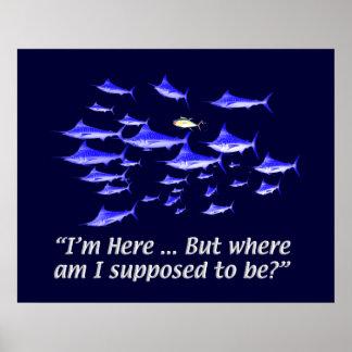 Confused tuna - Senior Citizens Poster