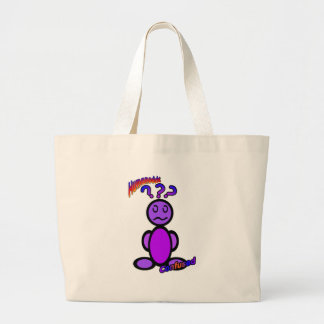 Confused (with logos) large tote bag