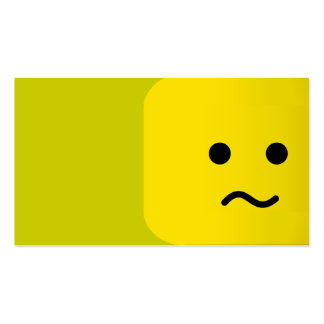 CONFUSED YELLOW SMILEY  CARTOON GRAPHIC FEELINGS BUSINESS CARD